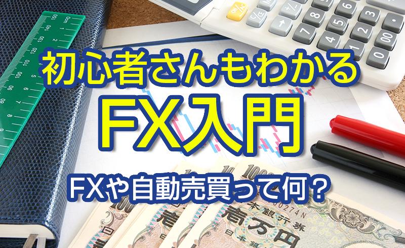 初心者さんもわかるFX入門 FXや自動売買って何?