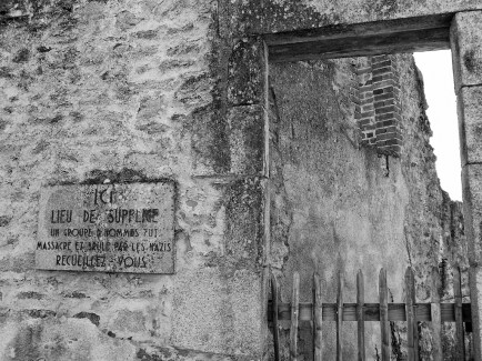 One of the places the men were killed B&W