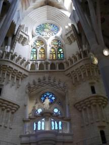 Above the nativity facade entrance