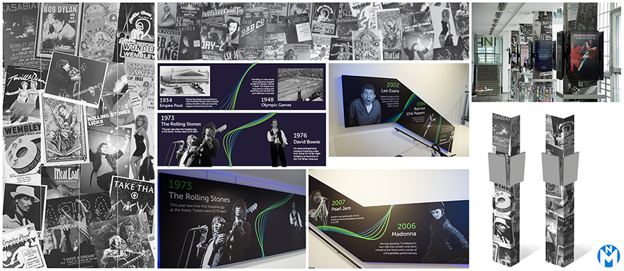 Print artwork designs for Wembley Arena