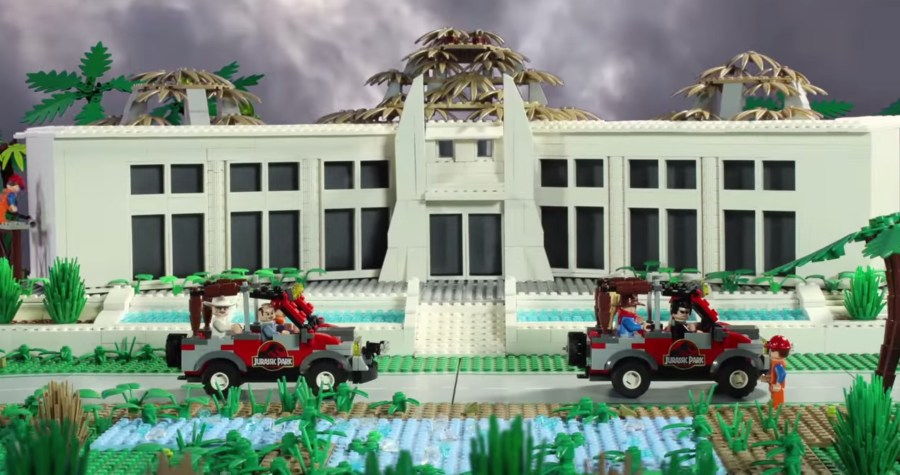 Jurassic Park - Brick Film set