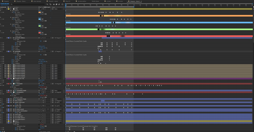 Animation layers in After Effects