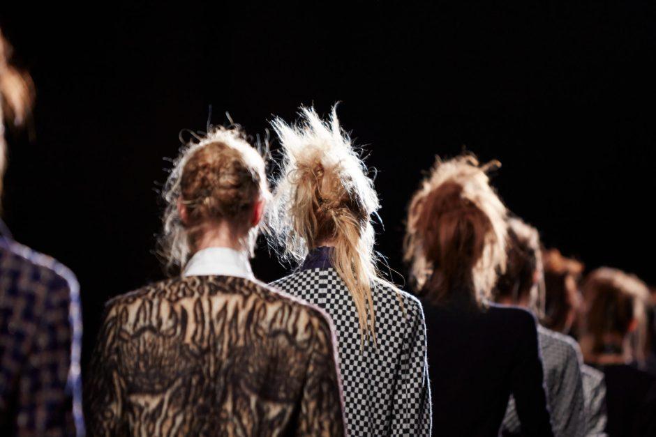 Haider Ackermann backstage at Paris Fashion Week Fall Winter Collection 2015.