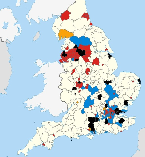 UK Local Election 2014 Map
