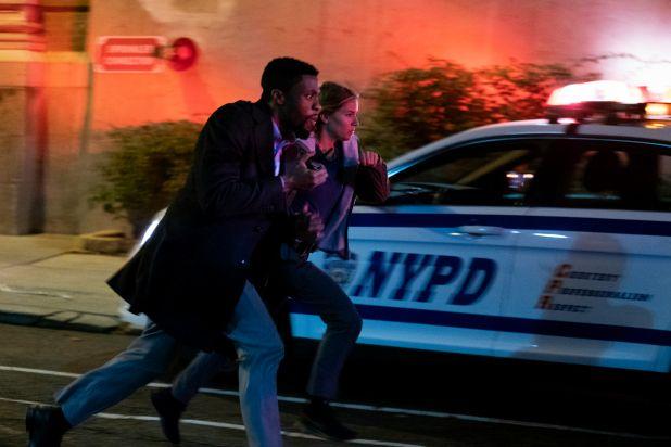 Chadwick Boseman and Sienna Miller in 21 Bridges