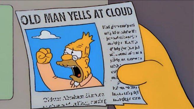 Ok Boomer Old Man Yells at Cloud