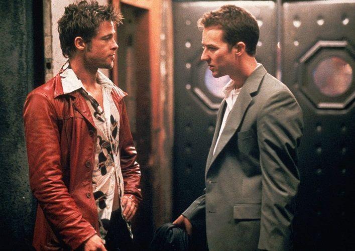Brad Pitt and Edward Norton in Fight Club