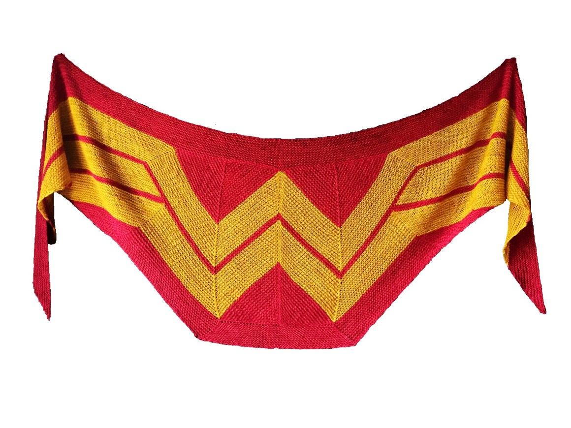 châle wonder woman par Carrissa Browning