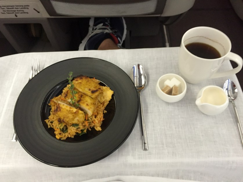 Garuda Indonesia Business Class Meal