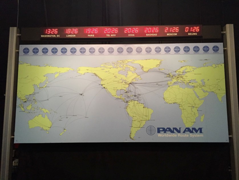 Pan Am Flight Map