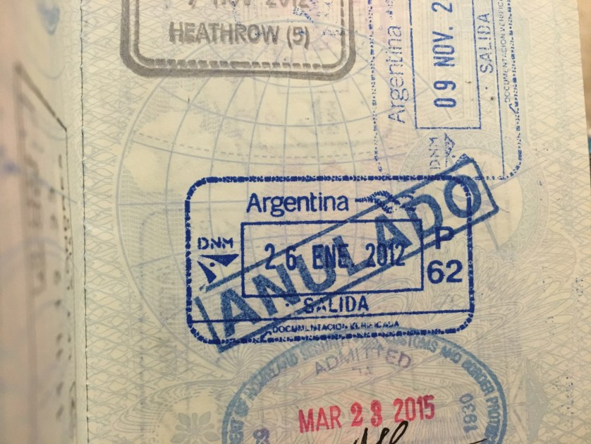 Annulled exit from Argentina