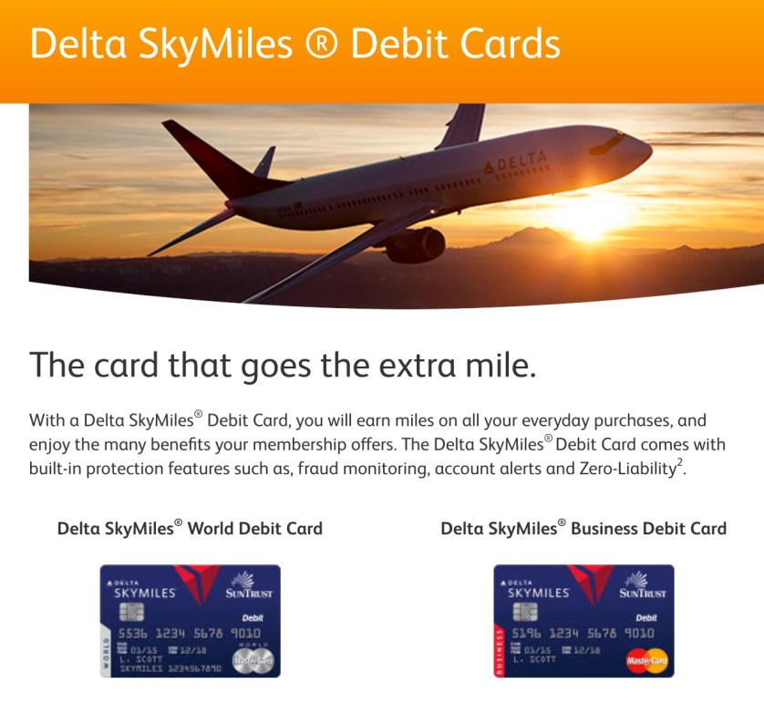 Skymiles Debit Card