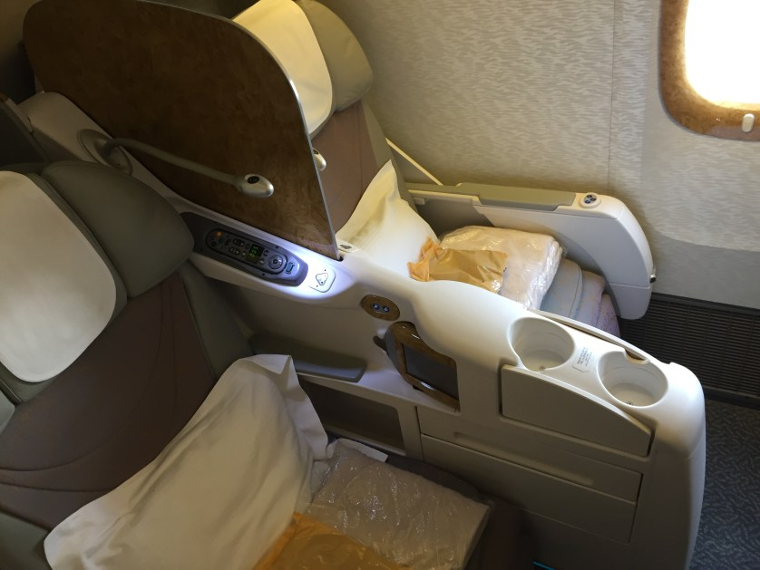 Emirates 777 business class seat