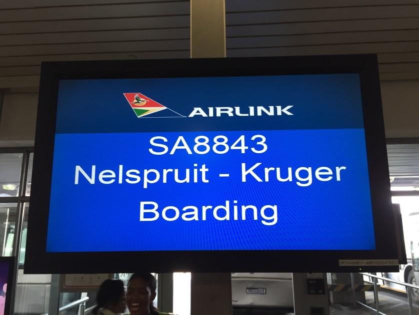 Nelspruit Kruger Boarding Sign
