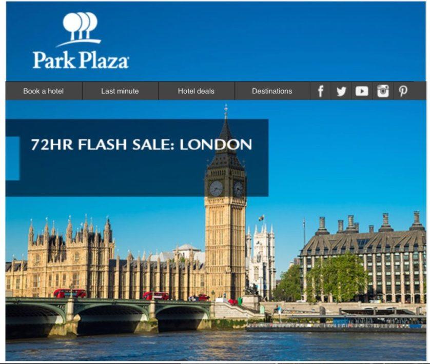 Park Plaza Flash Sale