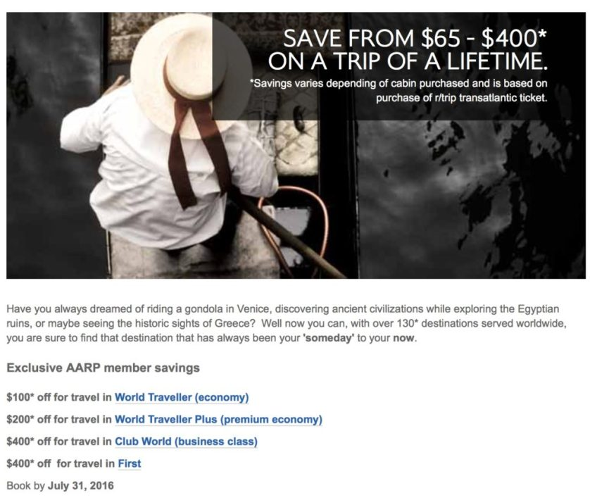 New British Discounts with AARP