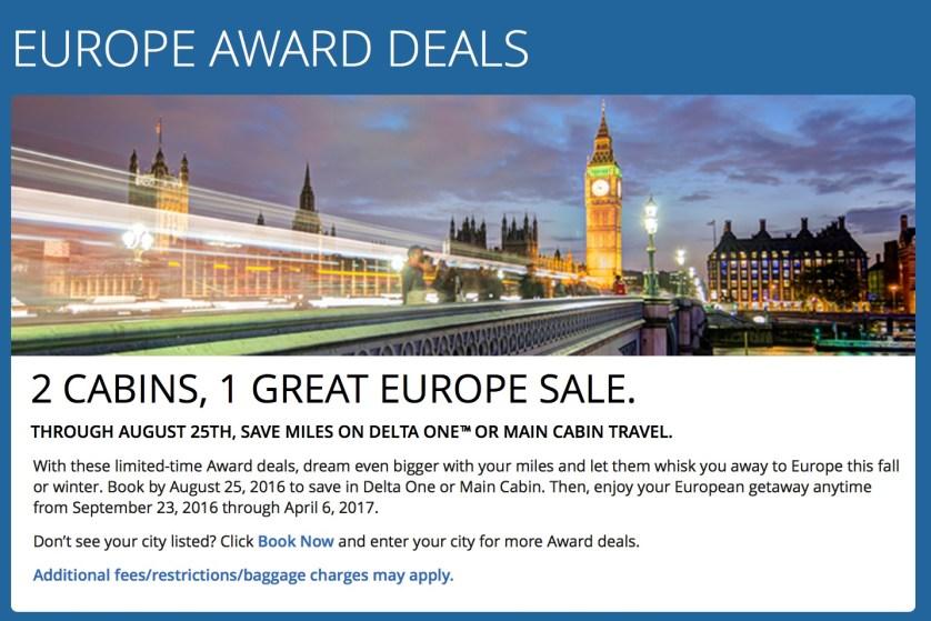 Fall Delta Europe Sale