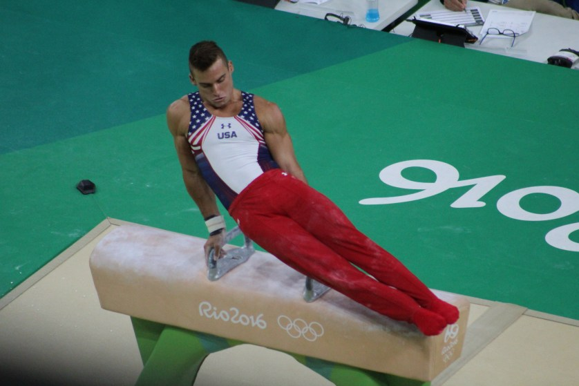 Sam on the Pommel