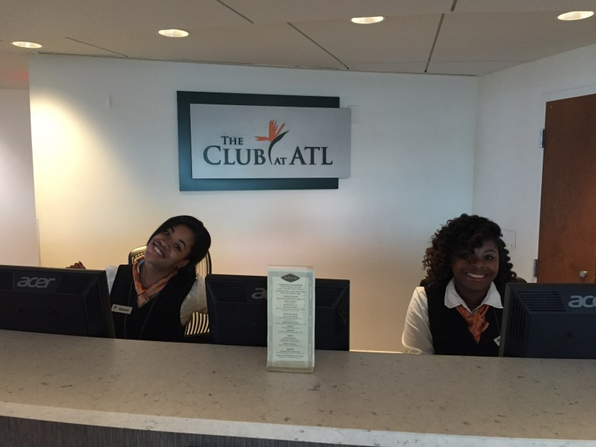 Club at ATL Awesome reception staff