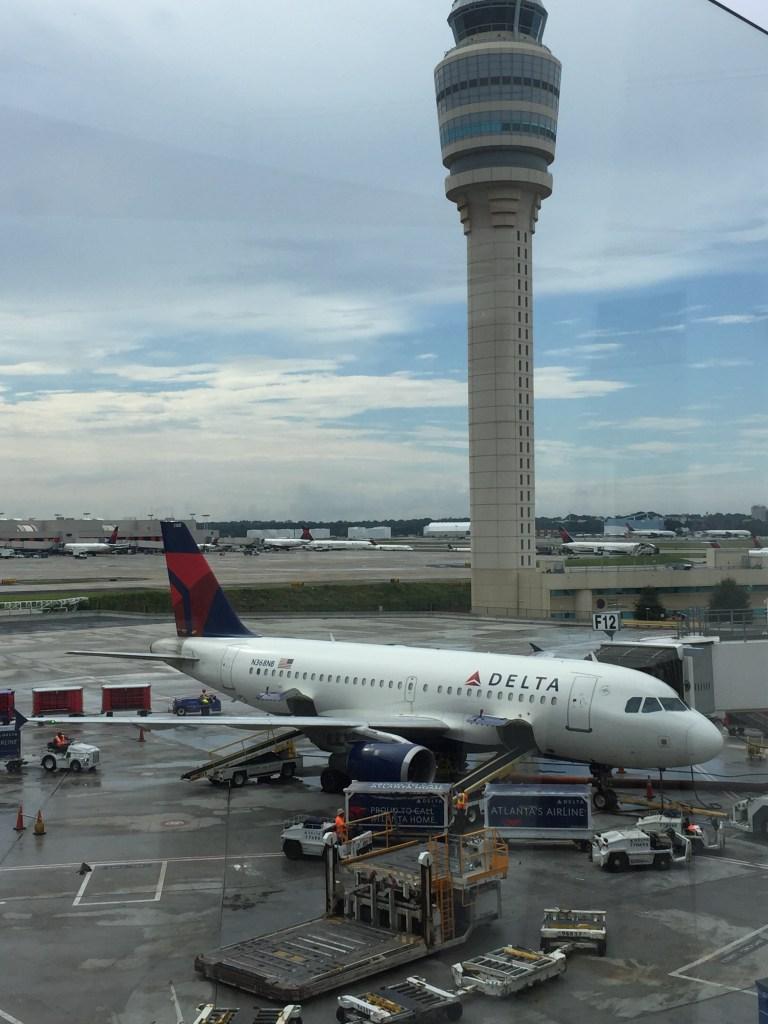 Delta plane waiting at the gate, Atlanta