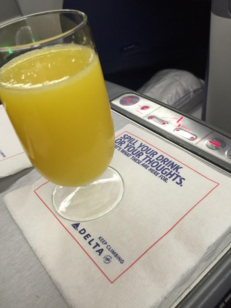 Pre Departure Drink, Delta One Mimosa