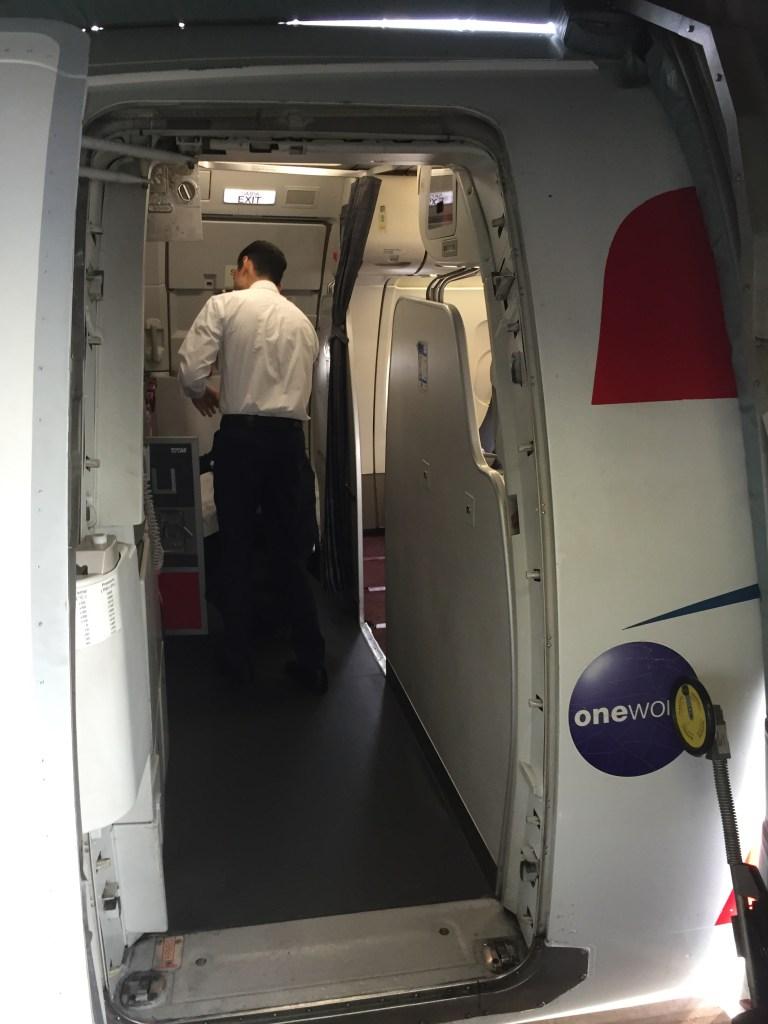 TAM boarding door