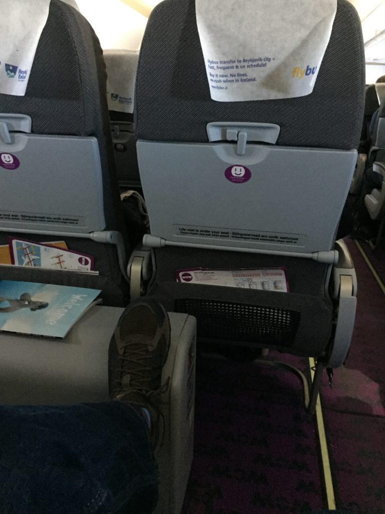 Plenty of Leg room on WOW Air