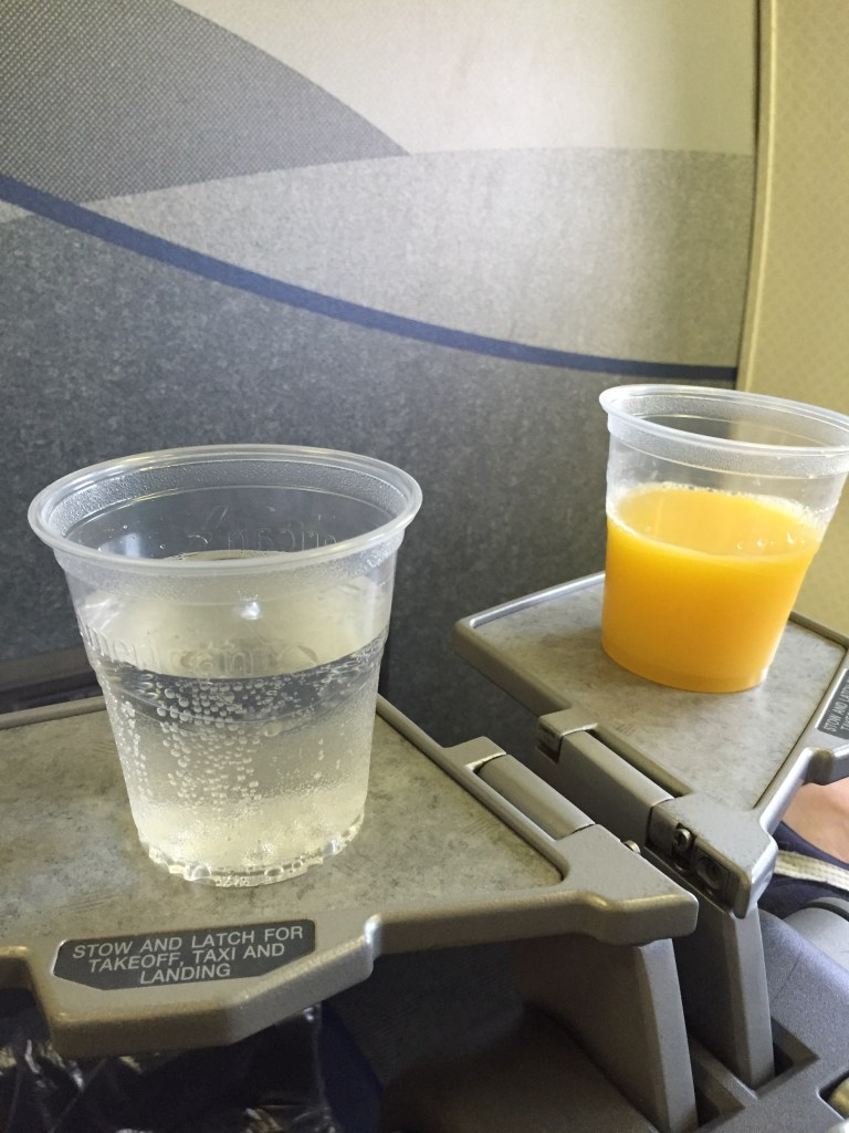 Pre Flight Drinks and Tiny Tray Tables