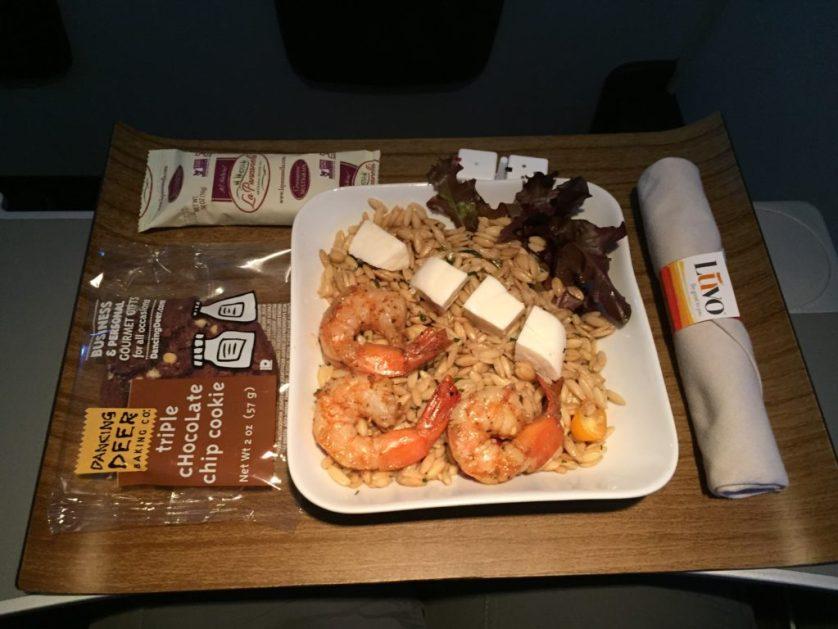Shrimp and rice/pasta?