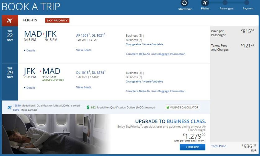 Madrid to JFK, CHEAP!