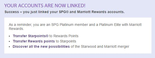Platinum on Both Starwood AND Marriott