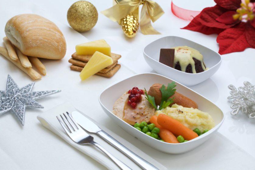 Emirates Economy Christmas Meal, from emirates.com