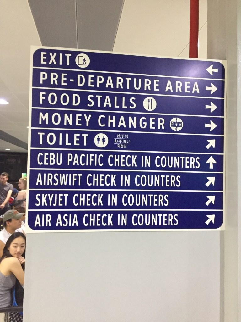 Manila Domestic Terminal Sign