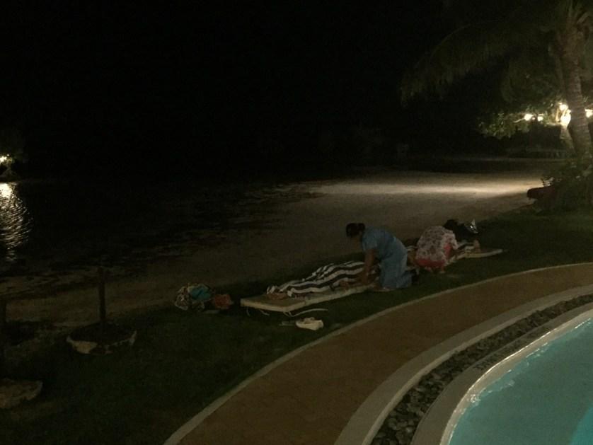A little poolside massage