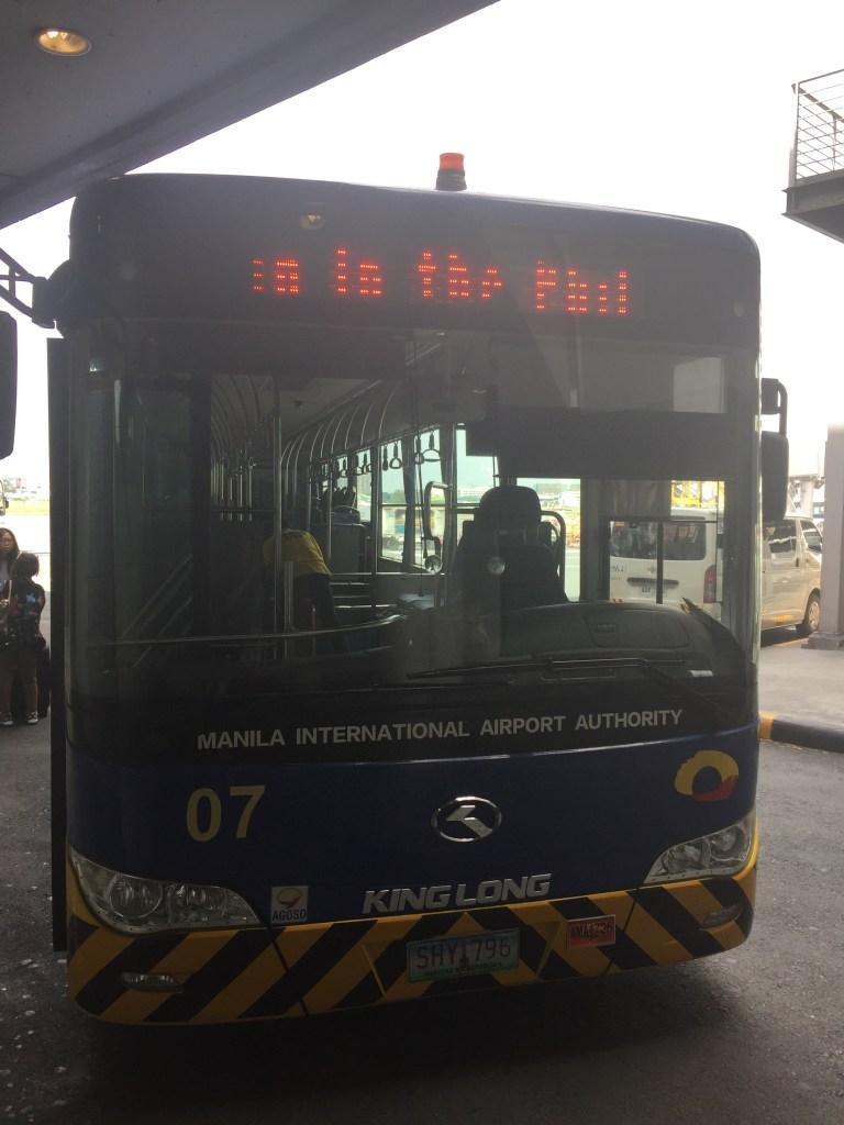 Bus at Manila AIrport