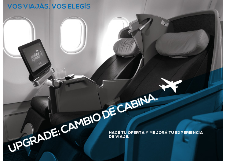 Upgrade: Cambio de Cabina, de AerolineasArgentinas.com.ar