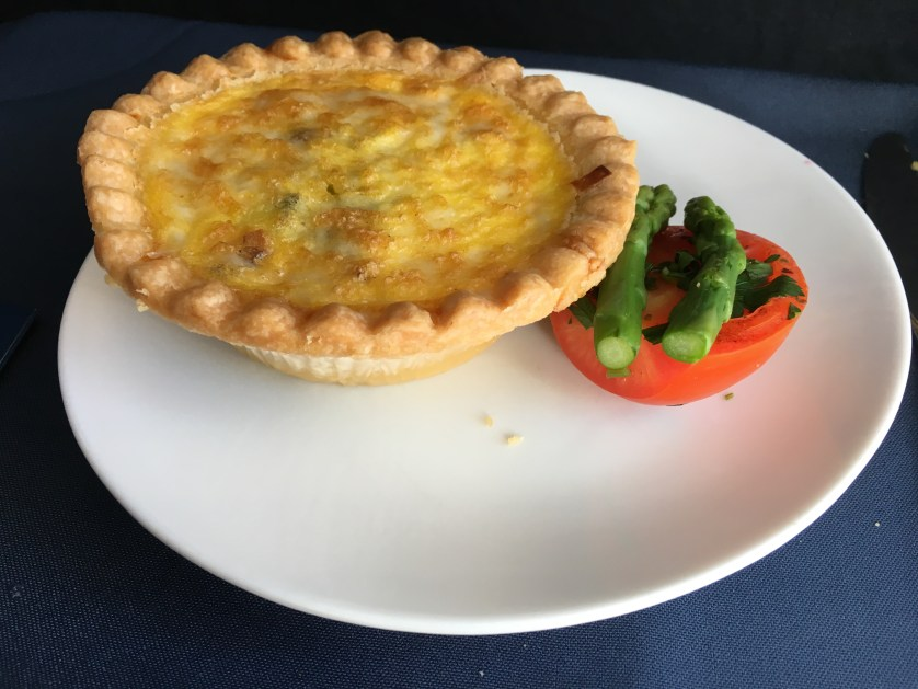 Alaska Airlines Bacon Quiche