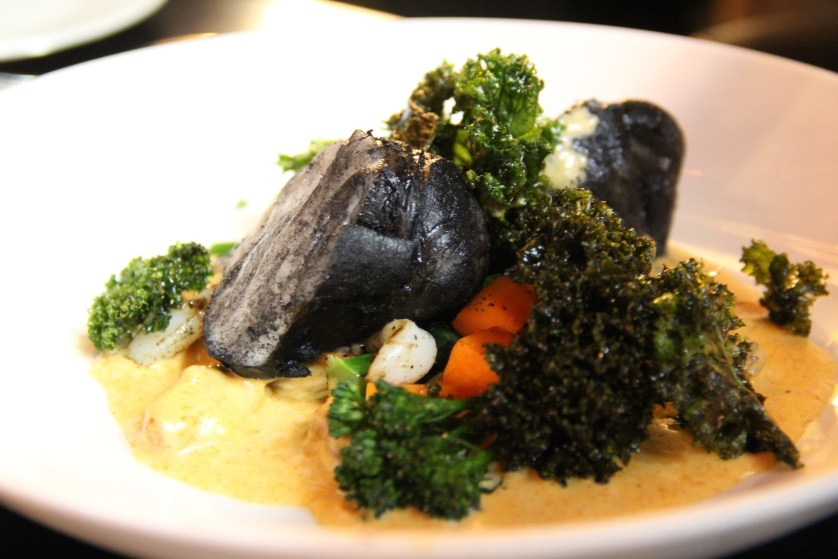 Squid Ink Braised Monkfish
