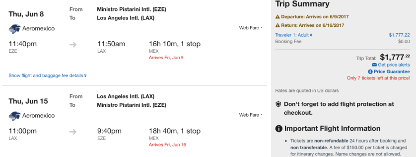 Buenos Aires Aeromexico Discount