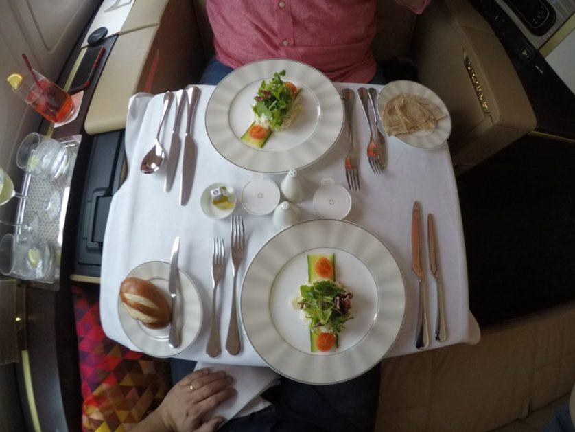 Etihad dining together