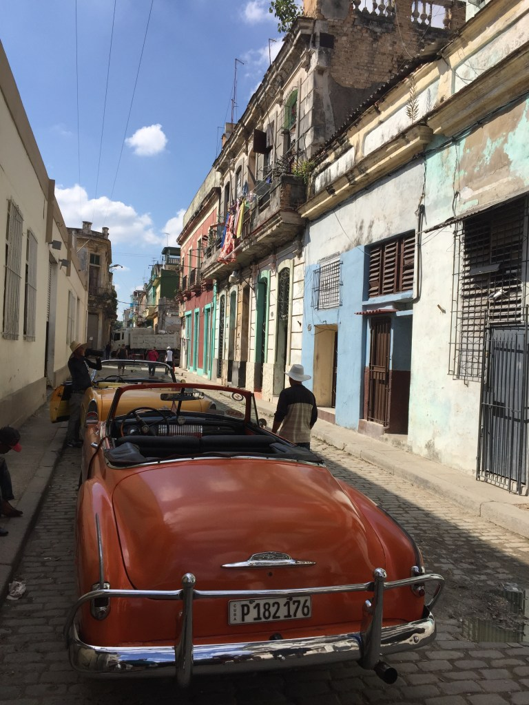 Classic Car on Havana Streets