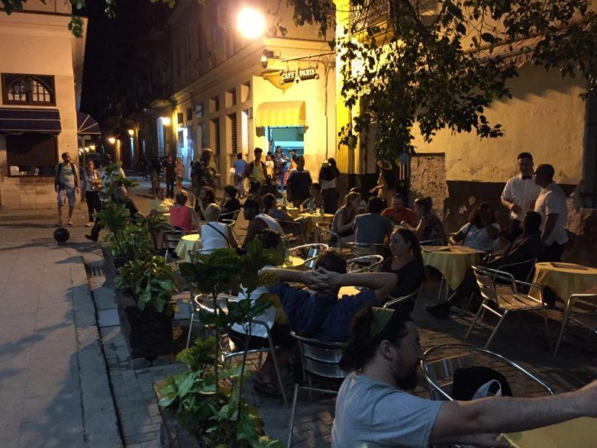 Havana Cuba Cafe at Night