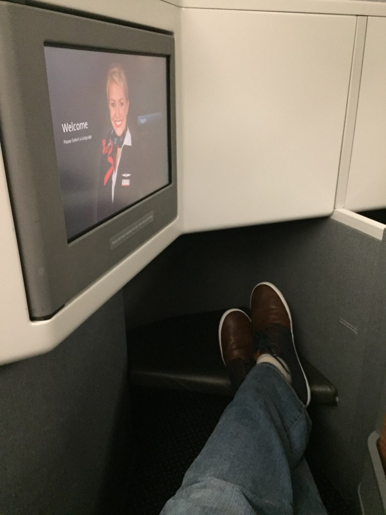 American Airlines 777 Business Class Seat Leg Room