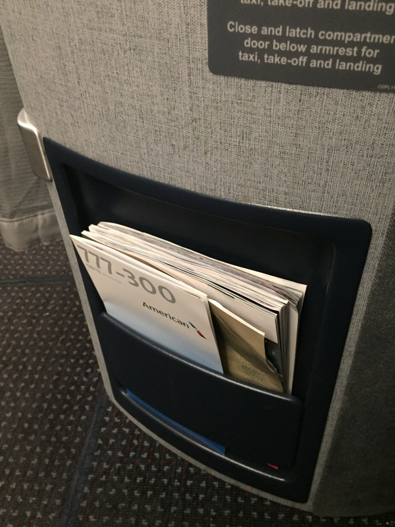 American Airlines 777 Business Class Seat