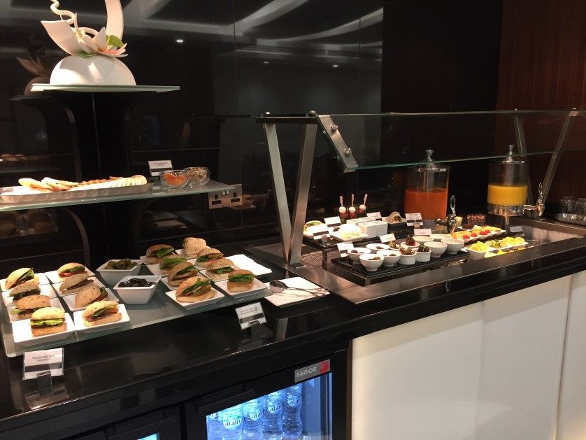 Etihad Arrivals Lounge Canapes