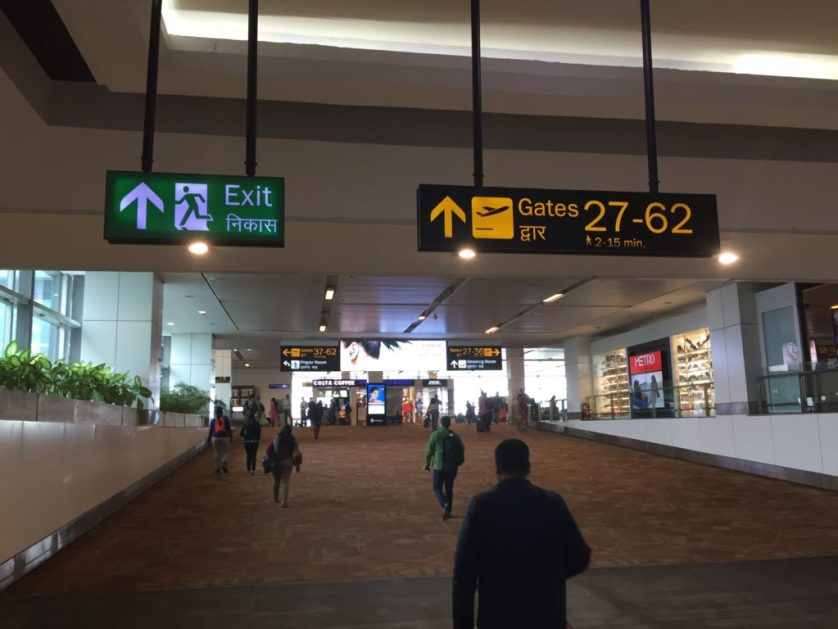 Signs for Lounges, Delhi Airport