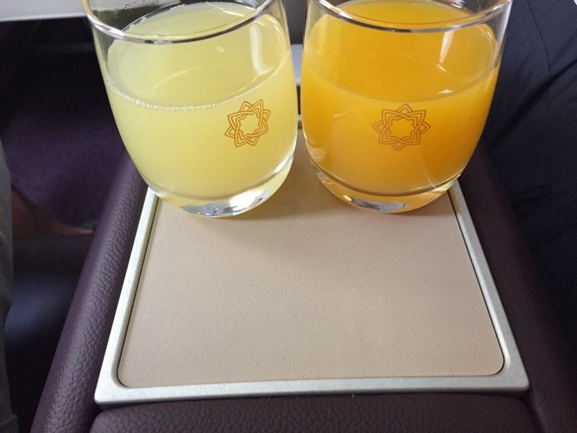 Vistara Business Class Juice