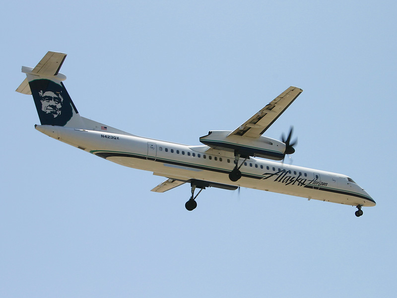 Horizon Air Bombardier Q400, from Horizon Air's Wikipedia entry.