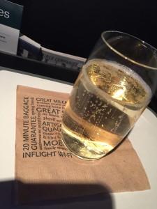 Alaska Airlines Champagne