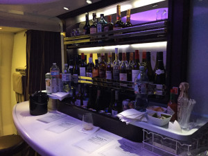 Fully stocked bar for a night-cap.
